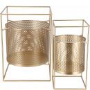 Metal lantern Pyro, set of 2, H45 / 40cm, gold